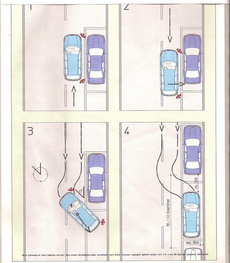 Seitwärts parkieren